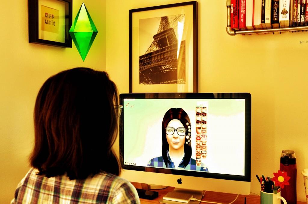 Adriana modificando su Sim. Foto: Chiyin Ng.
