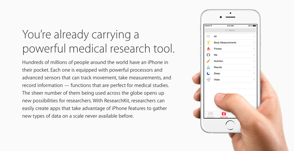 One more thing: Research Kit