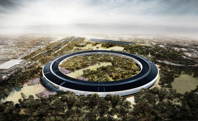 apple-new-corporate-headquarters-cupertino-aerial-shot-spaceship